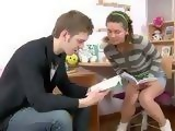 Nerdy Boy Came To Slutty Girl To Help Her Study But He Cant Resist Her Natural Tits