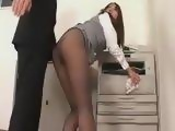 Asian Secretary In Nylons Jumped From Behind