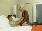 Sexy Blonde Milf Loves Young Cock