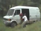 Redhead Jogger Girl Kidnapped And GangFucked In the Van