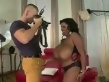 Photographer Gets Amazed When Busty Ebony BBW Grabbed His Cock