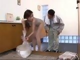 Milf Housewife Julia Dressed In Leotard Attacked and Fucked By Old Paper Collector Guy