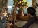 Blonde Painter Girl Tricked Art Model To Fuck Her In The Anus