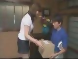 Postman Fucks Japanese Housewife While Bringing Post Mail