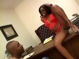 Ebony Office Lady Monique In Search For Good Errand Boy Gets Hard Anal Fucked