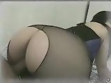 Guy Fucks His GFs Big Booty Through Pantyhose Hole