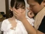 Blackmailed Stepmom Haruka Motoyama Gets Badly Disgraced In Kitchen While father Is In Living Room
