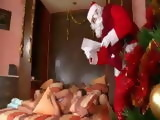 Sleeping Teen Awaken And Fucked By Santa Claus at Christmas Eve