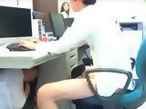 Japanese Colleagues Gets Interrupted Fucking In A Office