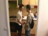 Mom Gives Free Sex Lesson To Boy In Kitchen