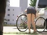 Flat Bicycle Tyre Was A Trap For Teen Japanese Girl