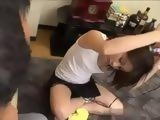 Teen Japanese Noticed That Her Friend Was Checking Her Tits