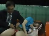 Pervert Guy Took Advantage Of Sleepy Wasted Girl in The Subway