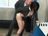 Blackmailed Office Lady Yuuki Maeda Abused By Her Boss in the Locker Room