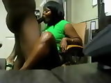 Hot Amateur Black Wife Blows and Gets Fucked Hard
