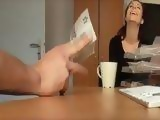 Brunette Girl Accepted To Fuck In Her Office For Some Money