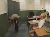 Wide Spread Legs And Short Skirt Was Too Tempting For Old Teacher
