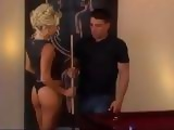 Seductive Milf Stepmom Corners Boy and Gets Anal Fucked on Pool Table
