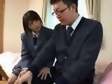 Naughty Schoolgirl Seduces Nerd Teacher Who Never Feel Pussy In His Life Before