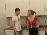 Two Russian Boys Violated Mature Housewife In Kitchen