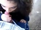 Italian Teen Blowjob Outdoor and Problem With Huge Mouth Cumshot
