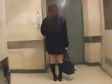 Japanese Schoolgirl Should Never Enter That Elevator
