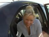 Gorgeous Blonde Gets Fucked In Public On A Parking Lot In Front Of A Mall