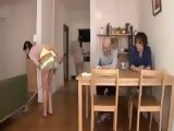 Dad And His Son Have Dirty Minds On Their Maids Natsuko Kayama i Sarina Takeuch