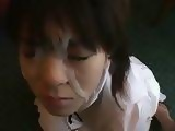Japanese Girl Gets 2 Messed Up Facial Cumshots